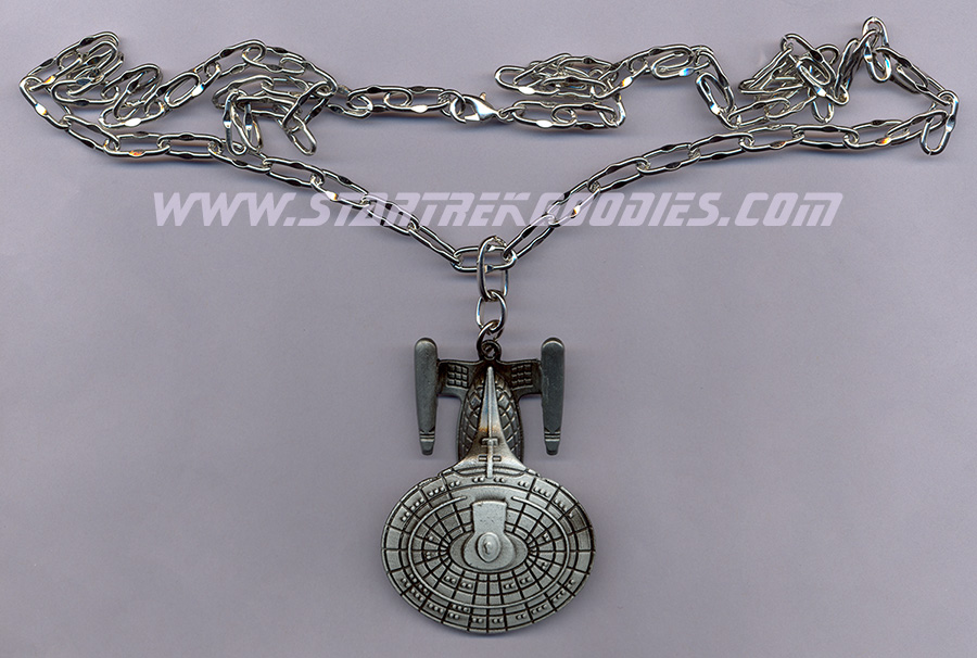 The Next Generation Enterprise 1701-D Ship SILVER Metal Necklace NEW Star Trek